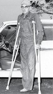 classic photo guy on crutches BW.jpg