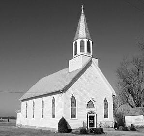 Whole Church Blue Sky BW.jpg