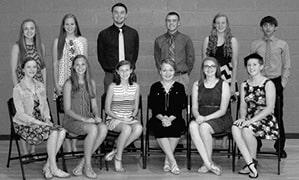 Okawville National Honor Society BW.jpg
