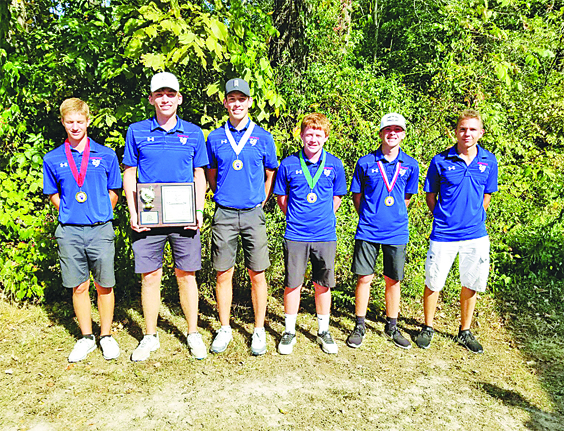 CHAMPIONS AGAIN: The Hornets golf team won its 11th straight conference title.