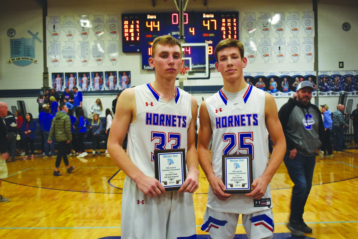 Terry Pelczynski and Carson Parker were both named to the Mater Dei All-Tournament Team.