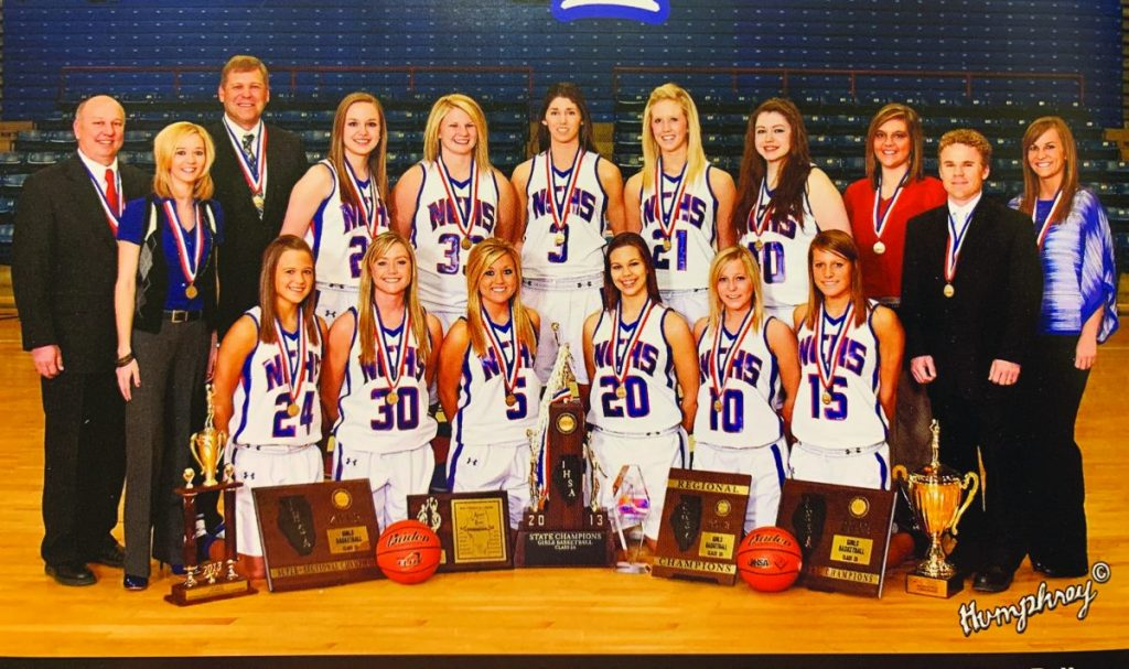 The 2013 State Champion Hornette Basketball Team.