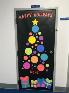 NCHS Blue Banner Door Decorating Contest 2020